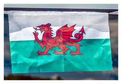 UK Mega 2016 in North Wales - Flagge von Wales