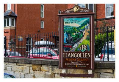 UK Mega 2016 in North Wales - Llangollen - Eingang der Eisenbahn