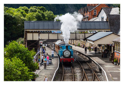 UK Mega 2016 in North Wales - Llangollen - Die Dampflokomotive