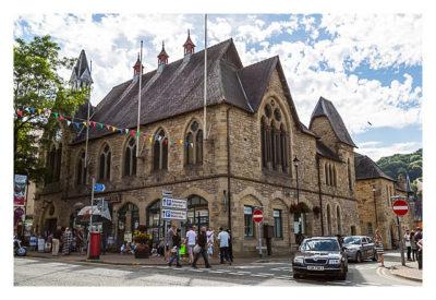 UK Mega 2016 in North Wales - Llangollen - Am Rathaus