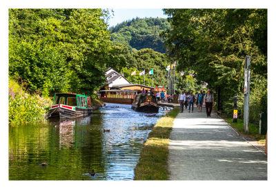 UK Mega 2016 in North Wales - Llangollen - Boot auf dem Kanal