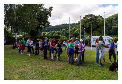 UK Mega 2016 in North Wales - GPS Maze Europe - Schlange