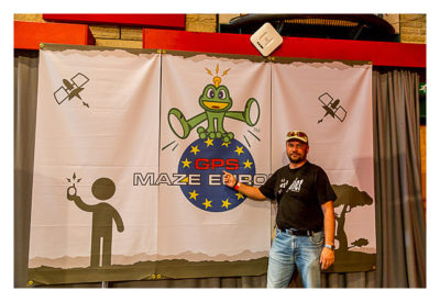 UK Mega 2016 in North Wales - GPS Maze Europe - Banner am Ende der Ausstellung