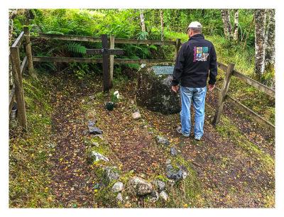 Produkttest Softshell-Jacke - Die Jacke am Grab eines schottischen Freiheitskämpfers