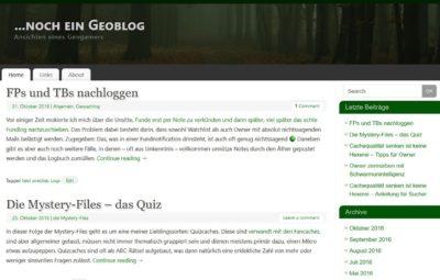 ...noch ein Geoblog (Blogvorstellung)