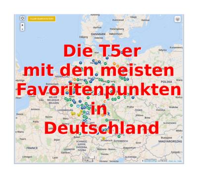 Die T5er in Deutschland mit den meisten Favoritenpunkten
