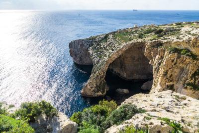 Geocaching auf Malta: Der Süden - Die Blaue Grotte von oben