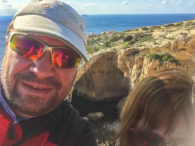Geocaching auf Malta: Der Süden - Die Blaue Grotte: Logproof für den Earthcache