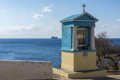 Geocaching auf Malta: Der Süden - Die Blaue Grotte: Schutzpatron der Fischer?