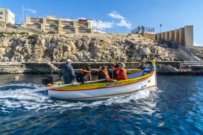 Geocaching auf Malta: Der Süden - Die Blaue Grotte: Bootstour