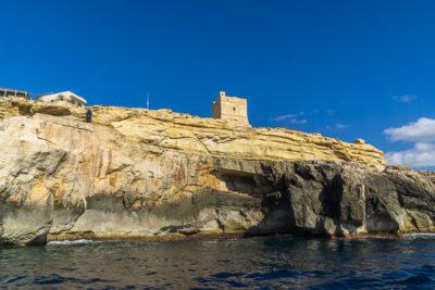 Geocaching auf Malta: Der Süden - Die Blaue Grotte: am alten Wachturm vorbei