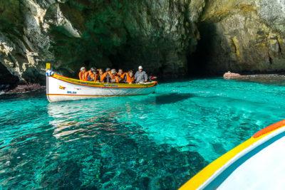 Geocaching auf Malta: Der Süden - Die Blaue Grotte: hier ist alles blau!