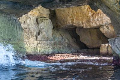 Geocaching auf Malta: Der Süden - Die Blaue Grotte: viele Höhlen in den Klippen