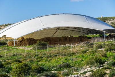 Geocaching auf Malta: Der Süden - die Tempel von ?a?ar Qim und Mnajdra - Blick ins Innere