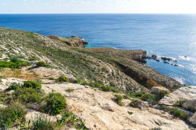Geocaching auf Malta: Der Süden - die Tempel von ?a?ar Qim und Mnajdra - Blick in die Bucht