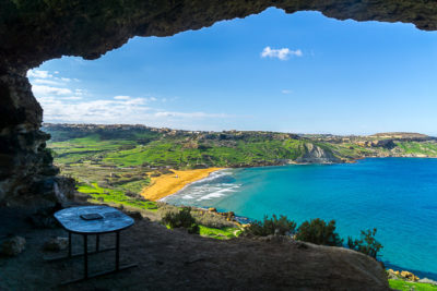 Geocaching auf Malta - Gozo - Ramla Bay