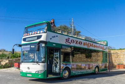 Geocaching auf Malta - hopon-hopoff-Sightseeingbus