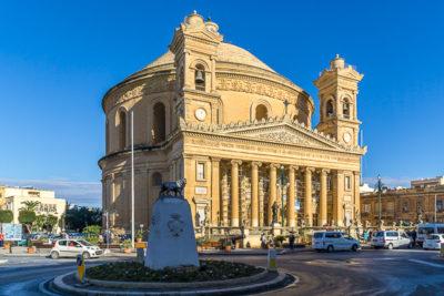 Geocaching auf Malta - Mosta Kathedrale