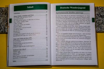 """DasBuch """"Geocaching II"""" - Das Inhaltsverzeichnis"""