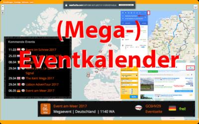 Neuer großer (Mega-) Eventkalender mit vielen Funktionen!