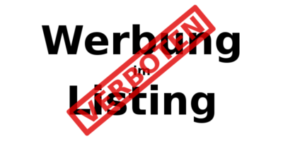 Verbotene Werbung im Listing: Wo fängt sie an?