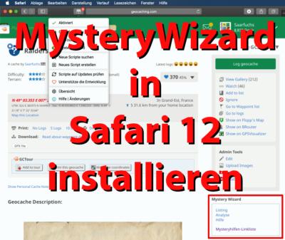 Mystery-Wizard unter MacOS Mojave in Safari installieren