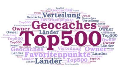 Statistik: Die Top 500 Geocaches mit den meisten Favoritenpunkten
