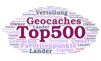 Statistik: Die Top 500 Geocaches mit den meisten Favoritenpunkten