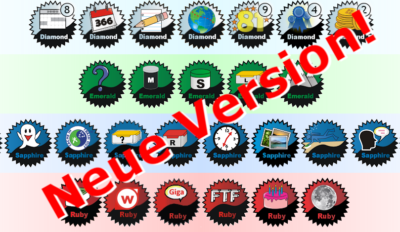 BadgeGen ist mit neuen Badges in der Version 4 erschienen