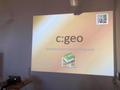 c:geo - So einfach kann Geocaching sein! (Vortragsfolien 2019)