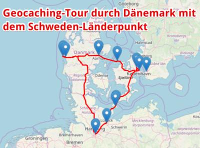 Geocaching-Rundfahrt durch Dänemark mit Schweden-Länderpunkt!
