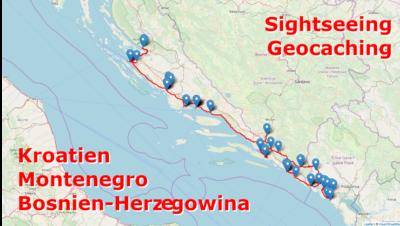 Geocaching und Sightseeing auf dem Balkan: Kroatien, Bosnien-Herzegowina und Montenegro