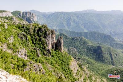 Berglandschaft an der Grenze zu Montenegro