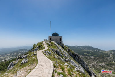 Blick vom Aussichtspunkt zum Njegoš-Mausoleum