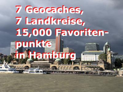 Mit 7 besonderen Geocaches alle Landkreise von Hamburg besuchen
