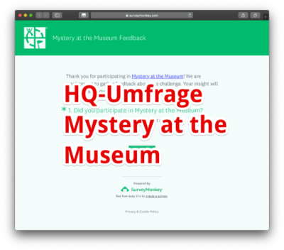 Die aktuelle HQ-Umfrage zu Mystery at the Museum