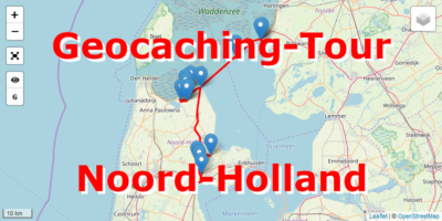 Geocaching-Tour mit dem Auto durch Noord-Holland