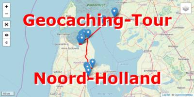 Geocaching-Tour mit dem Auto durch Noord-Holland