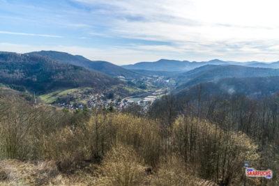 Blick vom Aussichtspunkt auf der Ramburg