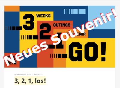 Neues Souvenir im Dezember mit dem Namen 3, 2, 1 Go!