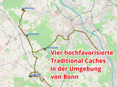 Cacheempfehlungen für die Umgebung von Bonn