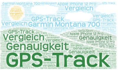Vergleich der Trackaufzeichnung von Montana 700 und iPhone 12 Pro