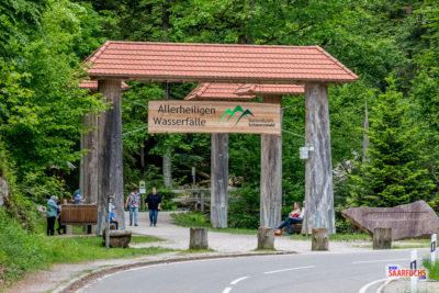 Geocaching & Sightseeing: Wasserfälle und Klosterruine Allerheiligen